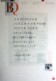 Berthold Bodoni Old Face kursiv Poster