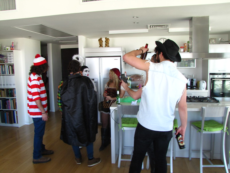 Pre-gaming in the Penthouse