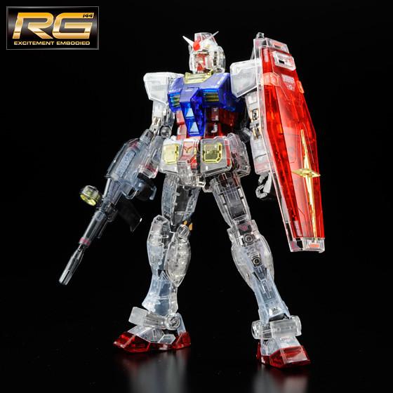 機動戰士THE ART OF GUNDAM展覽 東京限定RG RX-78-2 透明配色版