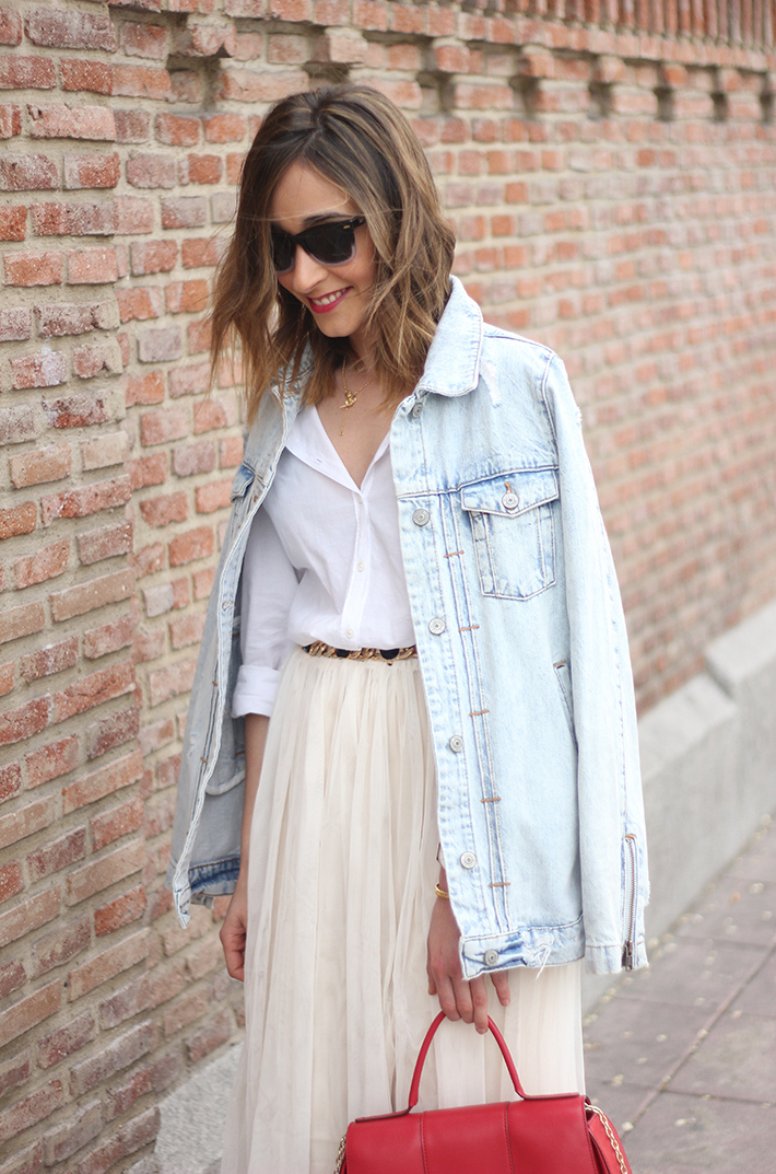 Tulle Skirt Denim Jacket04