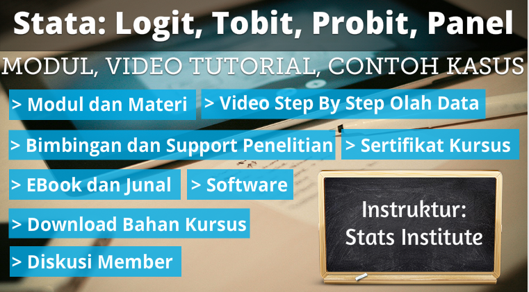 logit tobit probit panel logit stata menggunakan logit stata