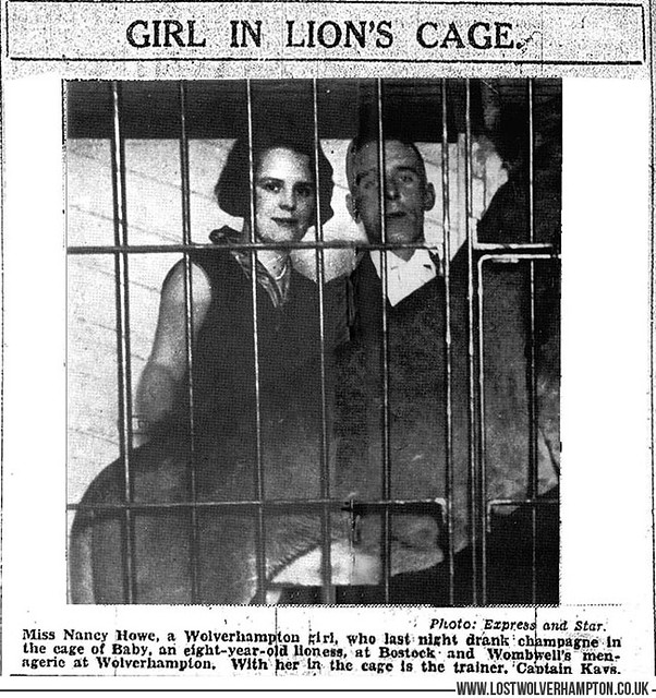 Girl in the Lions Cage