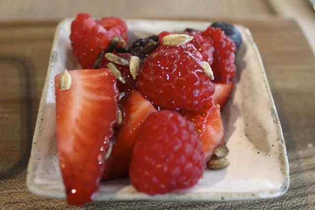Granola & berries at Darwin Brasserie, London