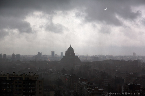 Eclipse over Brussels, Belgium