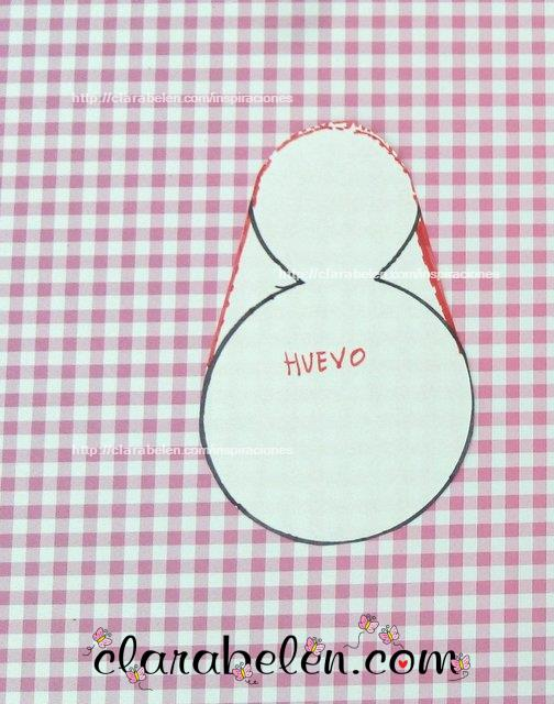 Como sacar el dibujo huevo de Pascua con tapones