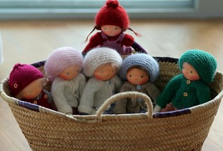 """Knitted Waldorf dollm13"""" by Peperuda dolls"""