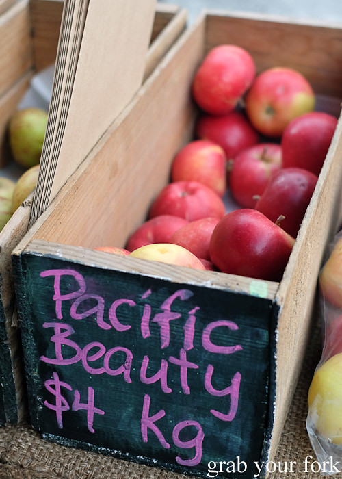Pacific Beauty apples at Thorndon Farmers' Market, Wellington