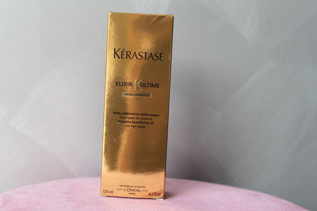 Kerastase elixr ultime salon beautifying luxury oil hair beautiful ausbeautyreview australian beauty review blog blogger gold
