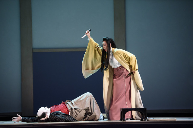 Carlo Bosi as Goro and Kristine Opolais as Cio-Cio-San in Madama Butterfly © ROH 2015. Photo by Bill Cooper