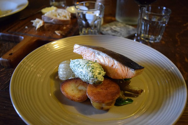Confit Salmon & Dill Clotted Cream at The Compasses Inn, Crundale
