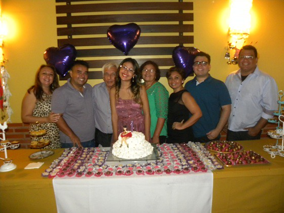 Maria Rita com sua família santos