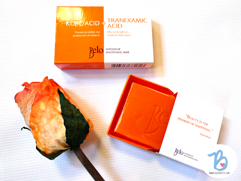 Belo kojic acid tranexamic acid soap review