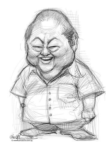 digital caricature painting of Moses Lim - 1