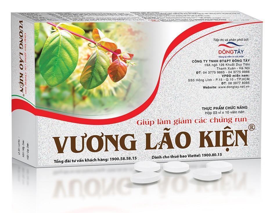 TPCN Vương Lão Kiện giúp hỗ trợ điều trị giúp giảm dần các chứng run
