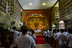 A solemn mass held athe Chapel of The Tilma inside Our Lady of Guadalupe Parish Church in Pagsanjan, Laguna