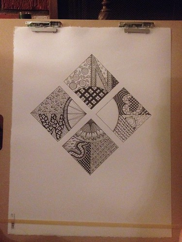 Zentangle Compass: Add Designs
