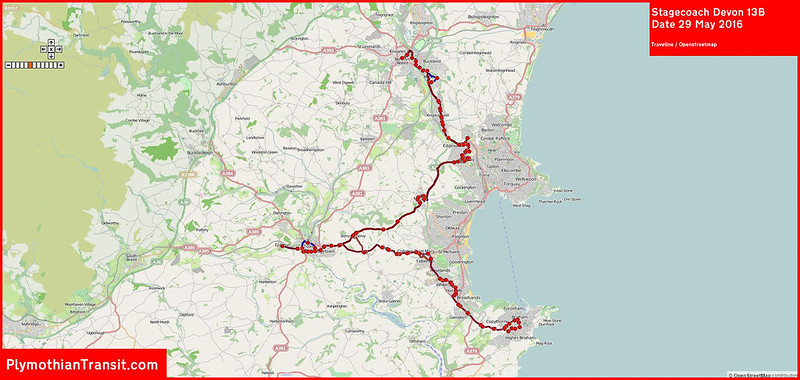 2016 05 29 Stagecoach Devon Route-013B Traveline MAP.jpg