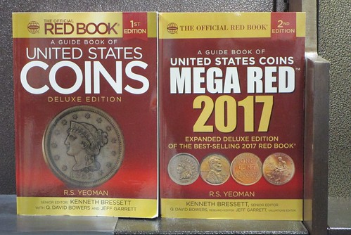 2016 and 2017 Mega Red Books on the shelf at Barnes and Noble, Union Square - 2016-05-06 - IMG_3005