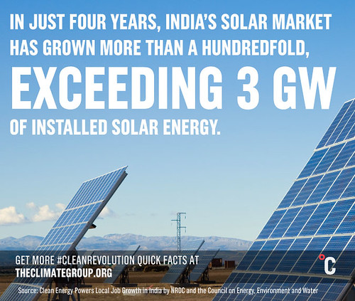 In just four years, India's solar market has grown more than a hundredfold