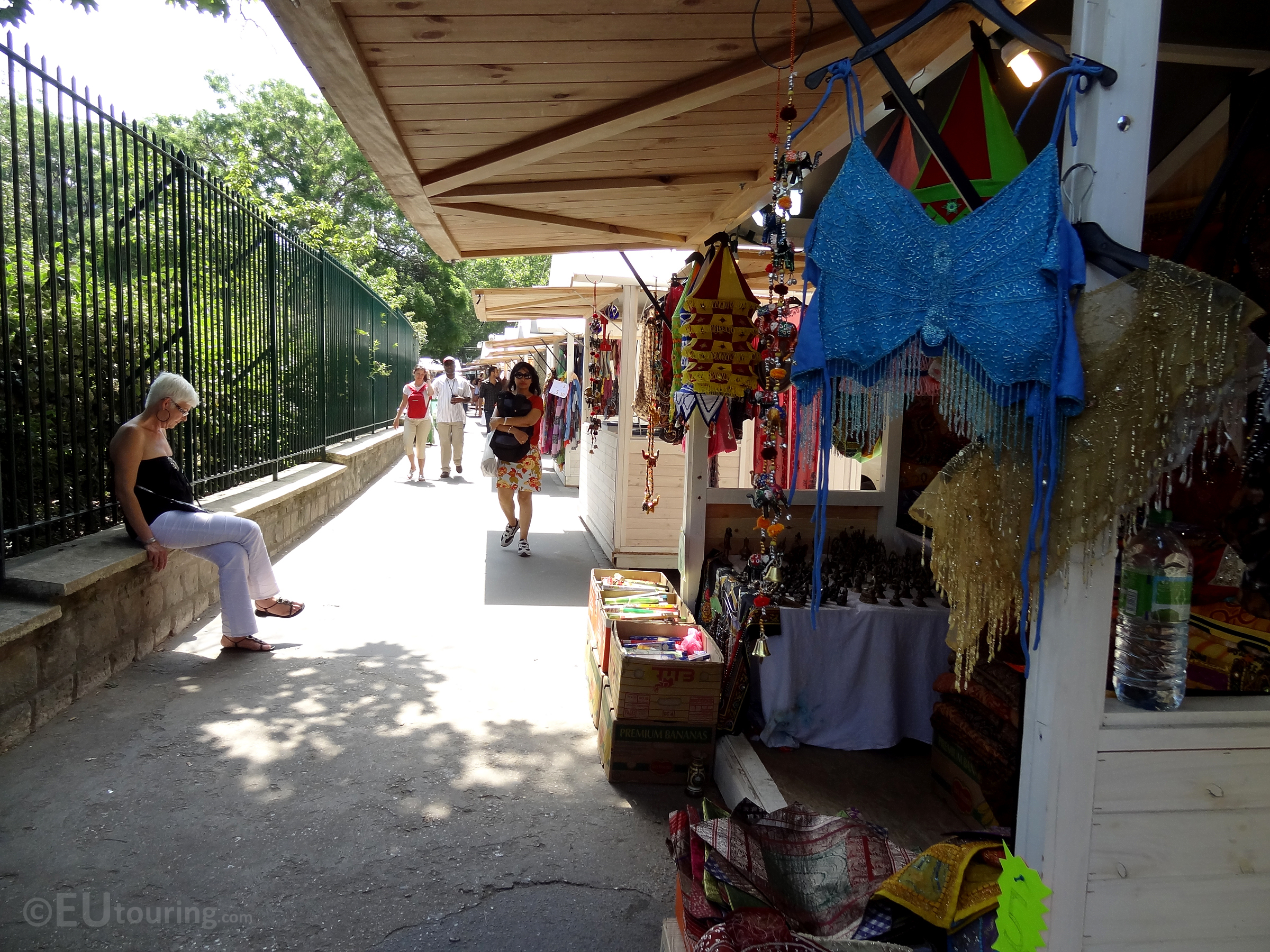 Stalls along the path