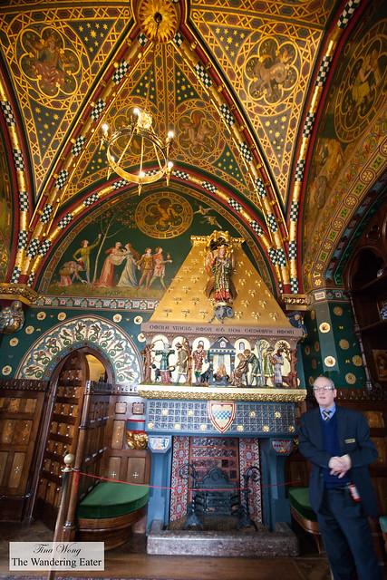 Interior of the gentleman's smoking room