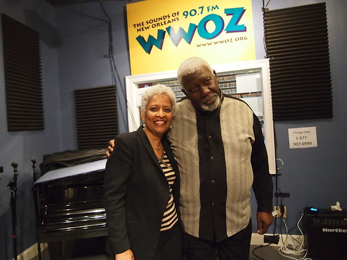 Sharon Martin and John Brinson at WWOZ.