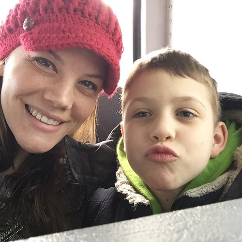 Olivers first bus ride: field trip to see how we make maple sugar. #momofboy #hcmaroons