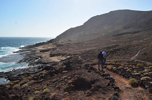 Path below Montaña Roja, El Medano, Tenerife