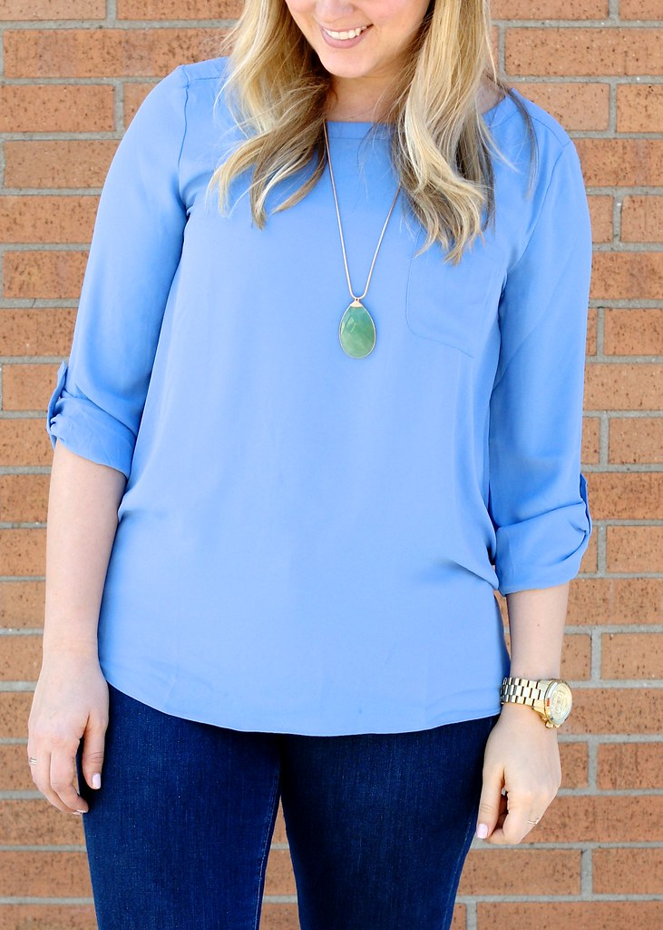 loft pocket blouse