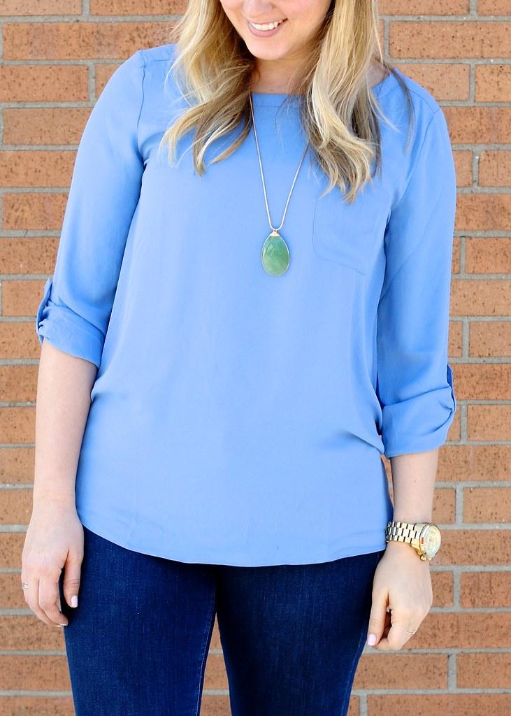 loft pocket blouse