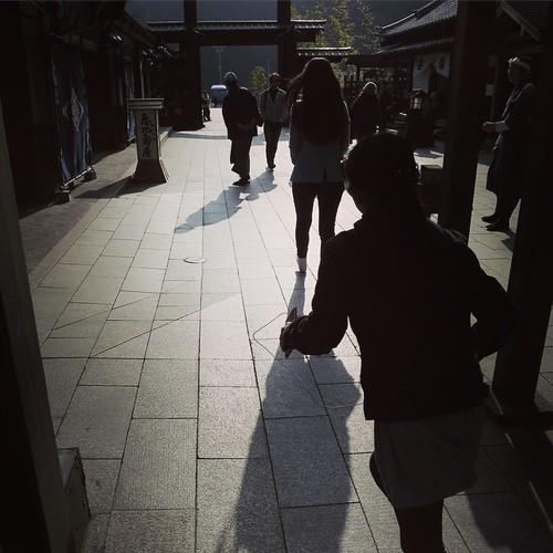 さよなら、江戸。今回も楽しかったです。(実はこの後、忘れ物を取りに走って戻ることになる) #日光江戸村 #edowonderland