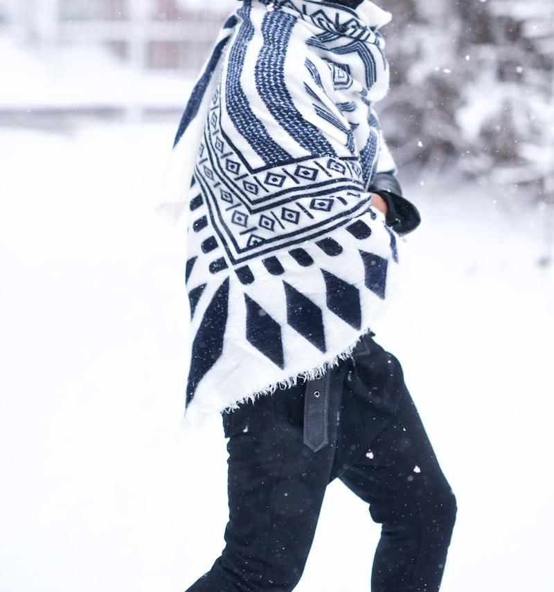 women white scarf