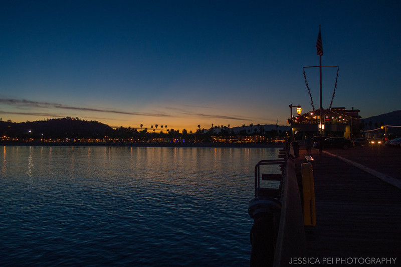 Stearns Wharf Santa Barbara California Sunset