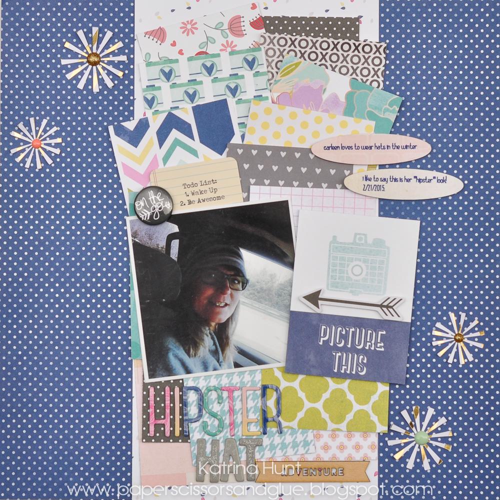 Hipster_Hat_Scrapbook_Page_Layout_Katrina_Hunt_Gossamer_Blue_American_Crafts_1000Signed-1