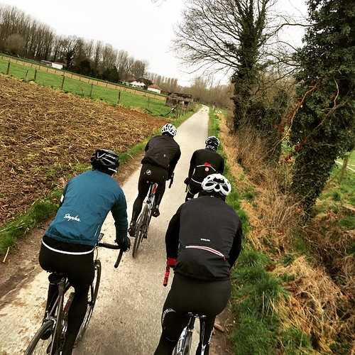 Wandering Flanders country lanes.