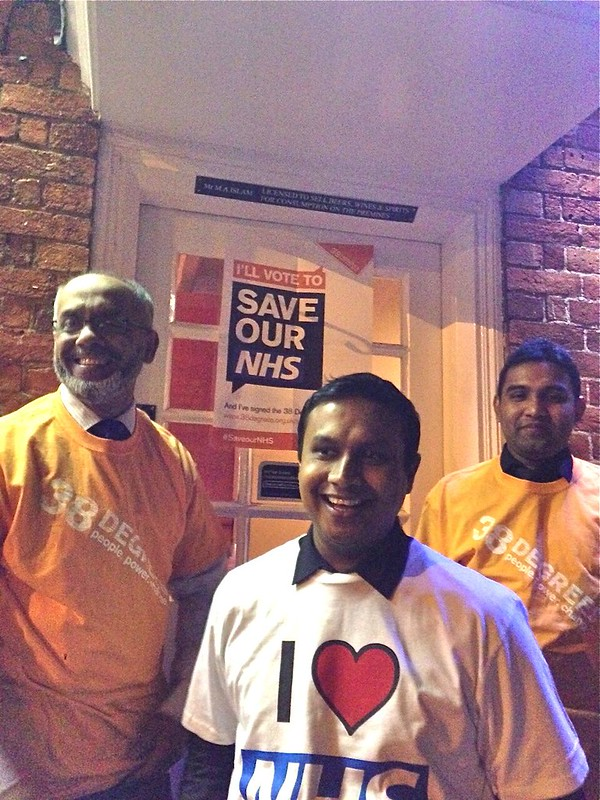 Staff back the campaign after the Curry in Surrey