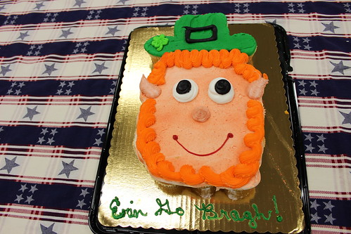 Corps of Engineers birthday cake with Irish theme