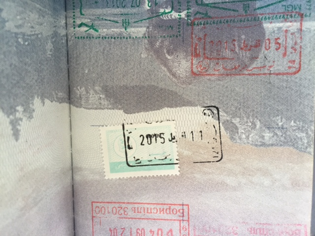 Getting your Tunis Solidarity (Exit) Stamp