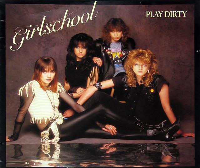 """GIRLSCHOOL PLAY DIRTY NWOBHM 12"""" vinyl LP"""
