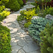 Garden path with stone landscaping