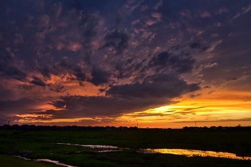 sunset orange clouds texas katy purple dusk bayou wetland katytexas buffalobayou silverranch
