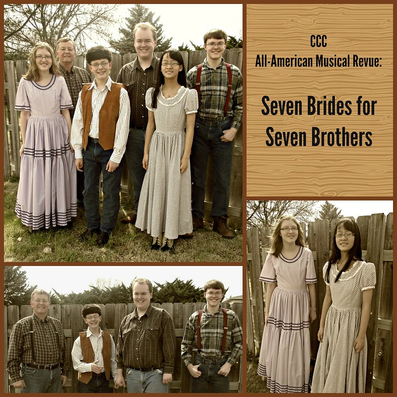 Seven Brides Collage with text