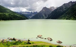 The sacred lake, Yilhun Lha Tso, Tibet 2014