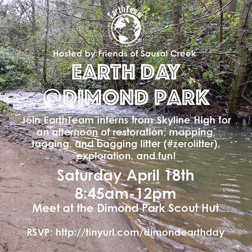 April 18 Dimond Park Event Poster