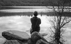 Self portrait by  a Lake
