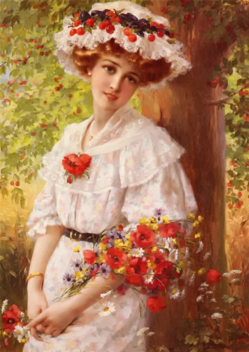 Under the Cherry Tree by Emile Vernon - 1899