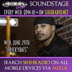 2morrow June 29th On #sihhradiosoundstage - @rickybats // http://youtu.be/VMUMDsLcoys