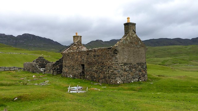 Argyll - Wester Ardnamurchan - ruined house at Glendrian
