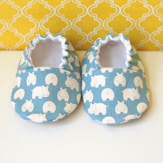 Hip hippos baby booties