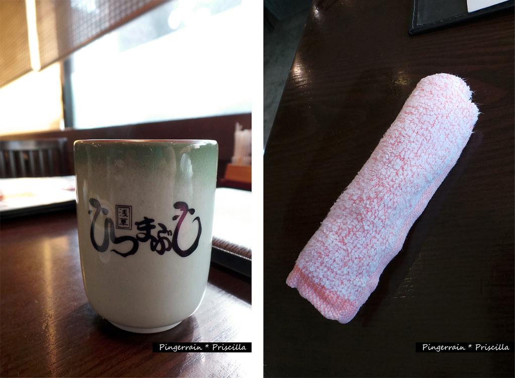 Hot tea and hot towel